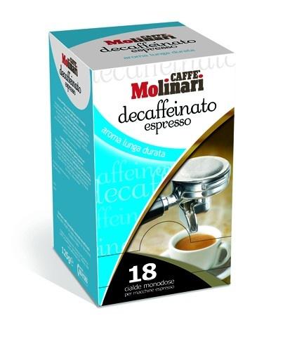 Molinari Koffeinmentes Pod, 18db