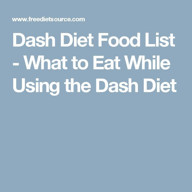 The Dash Diet Weight Loss Solution Food List
