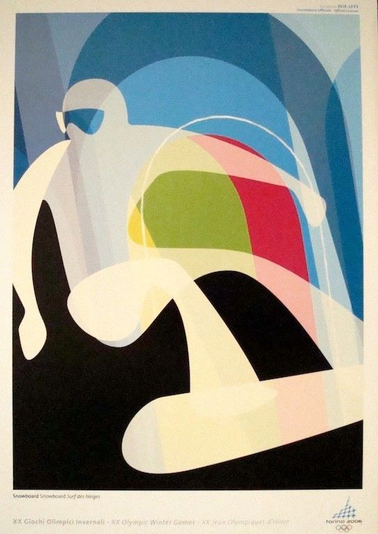 TORINO/TURIN 2006 WINTER OLYMPICS SNOWBOARDING vintage poster (not repro) | Art, Art from Dealers & Resellers, Posters | eBay!