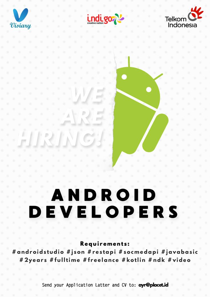 Visiary from Telkom Indigo is HIRING for #internship as Android Developers >> http://bit.ly/2zyUJt0   DEADLINE: 24 November 2017