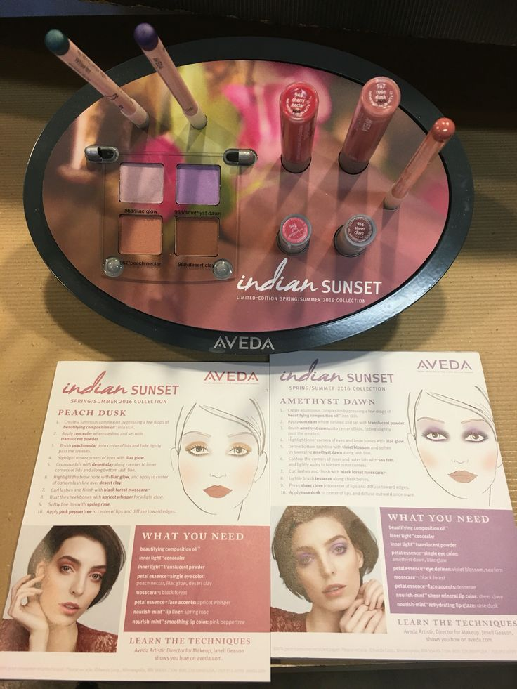 Aveda makeup is at K Charles! Come experience a complimentary makeup touch up with the new Indian Sunset collection!