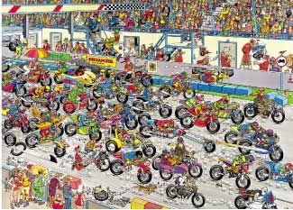 Puzzle JUMBO: Puzzle de 1000 piezas PUZZLE CARRERA DE MOTOS haasteren ( Ref: 0000002046 ) en Puzzlemania.net