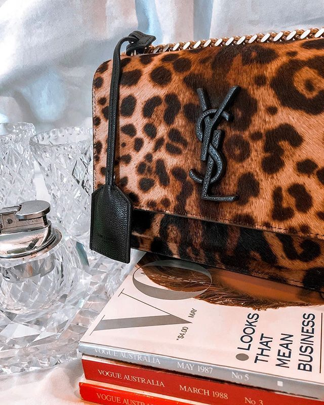 2c60bbdedc37 Available for your next soiree The @ysl Sunset Leopard Bag Hire now  #modasociety