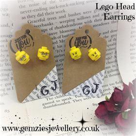 Lego Head Earrings