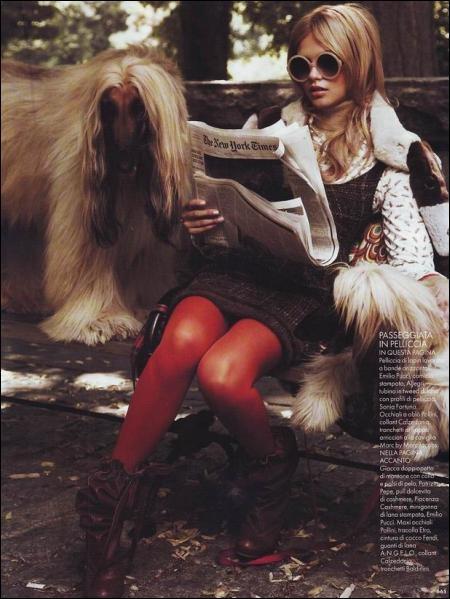 Katsia Damankova... I had an afghan hound growing up.