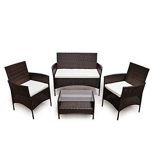 POLY RATTAN Sitzgruppe Essgruppe Set Farbwahl   Cube Sofa Garnitur Gartenmöbel  Lounge Farbwahl (4er