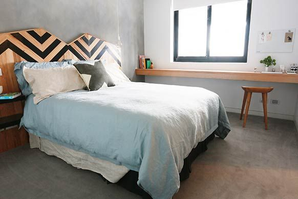 The Block Sky High: Room Reveal: Trixie + Johnno's guest bedroom
