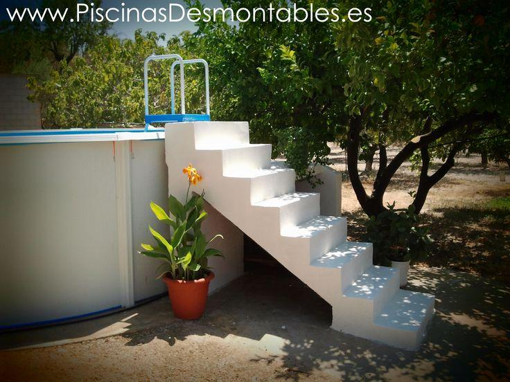 15 mejores im genes de piscinas desmontables en escaleras for Escaleras para piscinas desmontables carrefour
