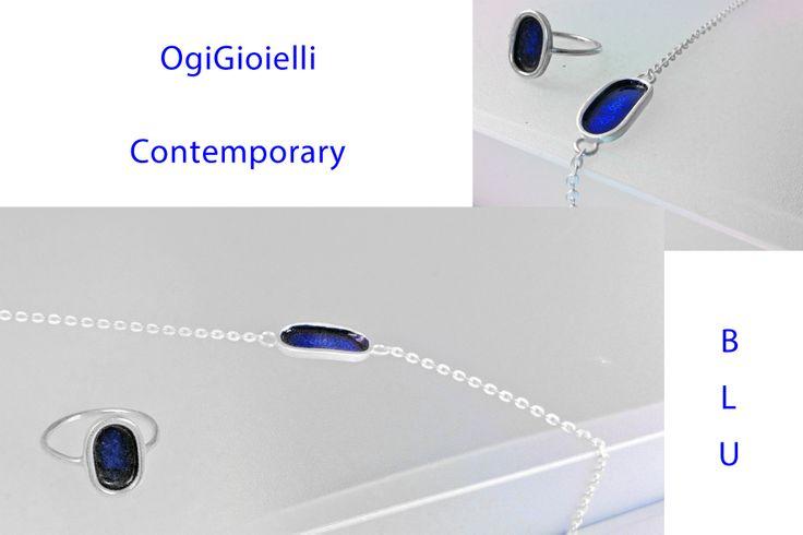 Ring, silver 925, enamel. Bracelet, silver 925, enamel. https://www.facebook.com/ogigioielli