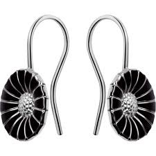 Denmark Sterling Enamel: daisy earrings