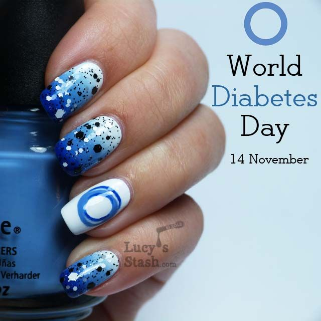 Lucy's Stash Nail Art   A Blue manicure to support World Diabetes Day