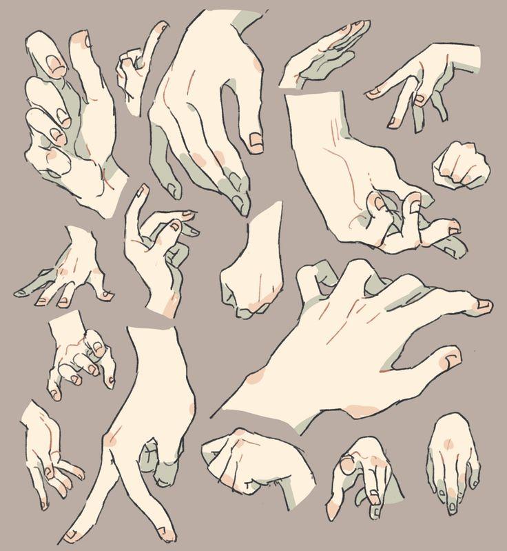 ずいぶん前に描いた手