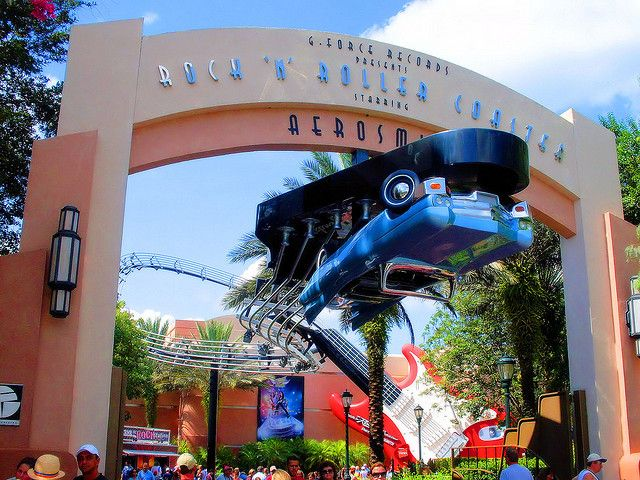 Disney Hollywood Studios ROCKIN ROLLER COASTER :)