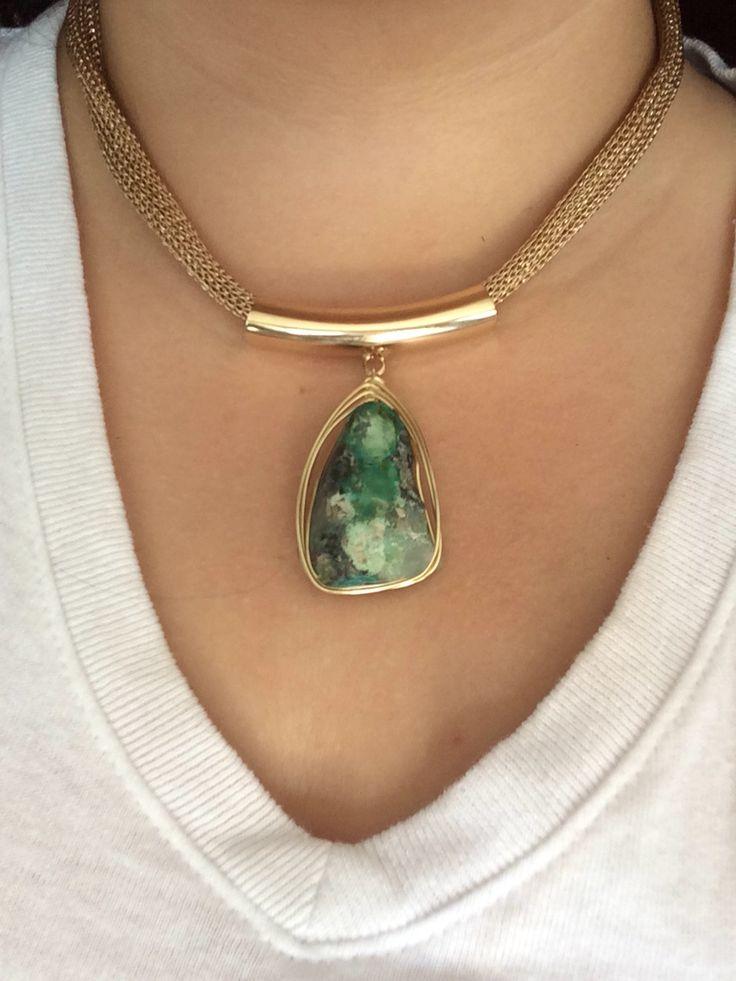 Collar Chroselite chapa de oro 18k Joyería hecha a mano