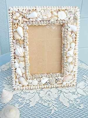 Ocean Vintage, Seashell Picture Frame / Seashell Picture Frames / Shell Decor™ > Beautiful, decorated Sea Shell and Seashell Mirrors.
