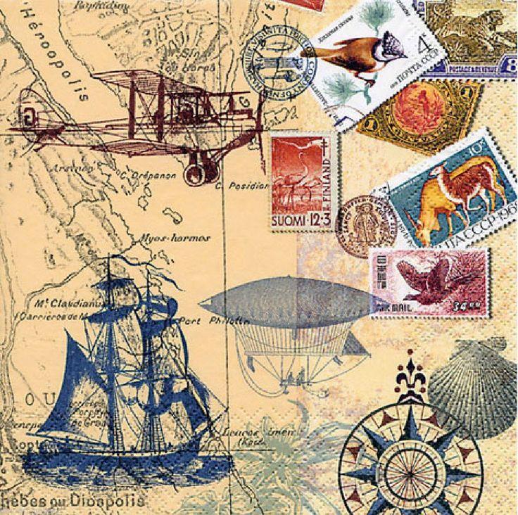 papers.quenalbertini: Imprimo- landia, Decoupage paper travel