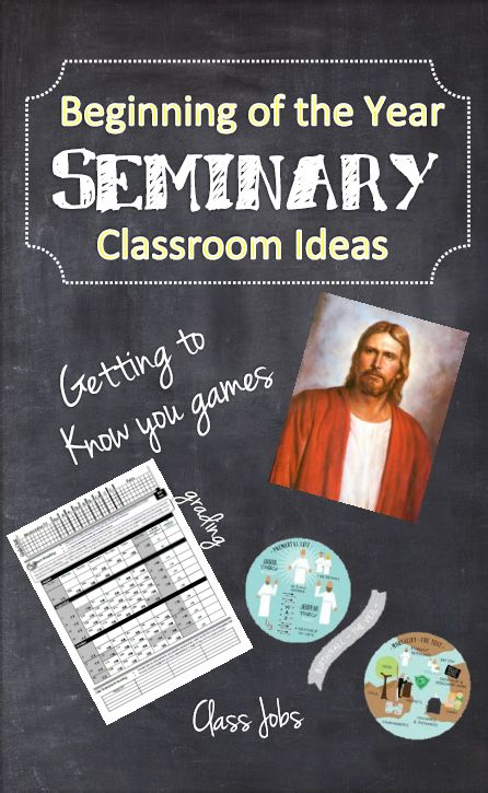 Excellent Seminary ideas! Getting to know you activities, seating charts, prayer books, working with students who have special needs, and much more.