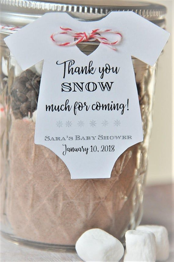 10 tags ~ Thank you SNOW much for coming ~ Winter ~ Baby Onesie Gift Tags ~ Baby Shower Party Favor