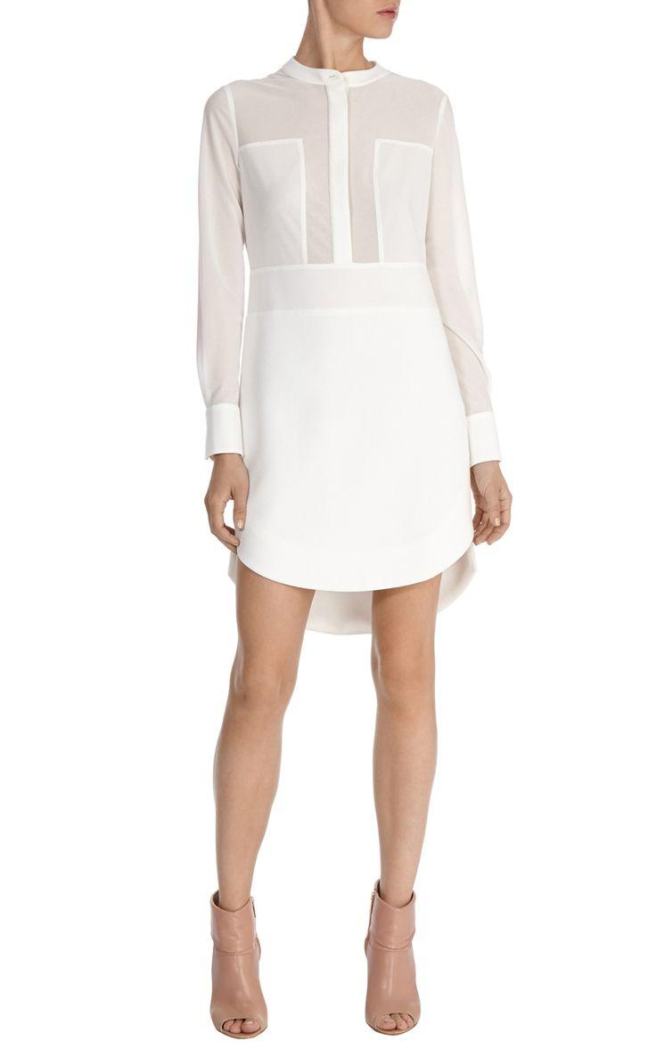 Sheer panelled tunic dress | Luxury Women's salenl | Karen Millen