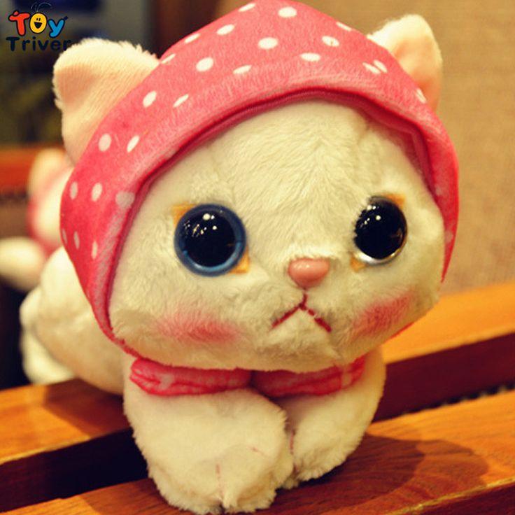 $16.99! kawaii stuffed plush japan choo cat toys baby girl kids birthday Valentine's gift lovely doll free shipping Triver Toy