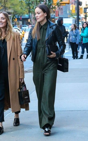 'Vinyl' actress Olivia Wilde spotted out shopping with a friend in New York City, New York on October 26, 2015. Olivia and her friend made a couple of small purchases from Chanel.