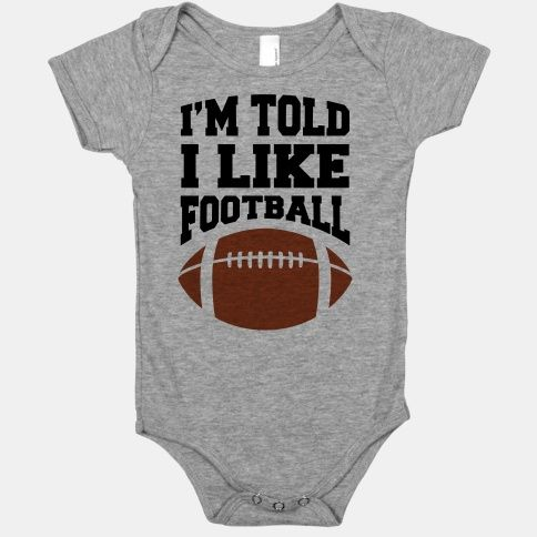 cute football onesie - nfl