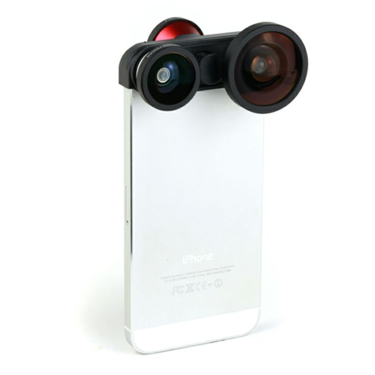 The lens kit brings iPhone5/5s fans big surprise. With fish eye lens, super wide lens and macro lens, it will make your iPhone5/5s instant Cinderella success for super portable charming camera.