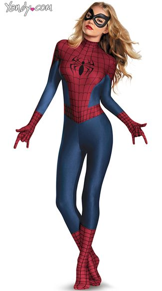 Sly Spider-Woman Bodysuit Costume, Woman Superhero Costume, Female Spiderman Costume -1497