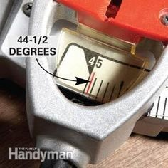 Tips for Tight Miters and Miter Cuts: The Family Handyman