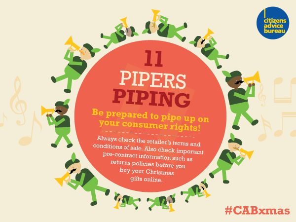 Pipe up for your consumer rights and always check the retailer's terms and conditions of sale #CABxmas