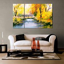 Unframed HD Canvas Print Home Decor Wall Art Split Picture Abstract Autumn Tree