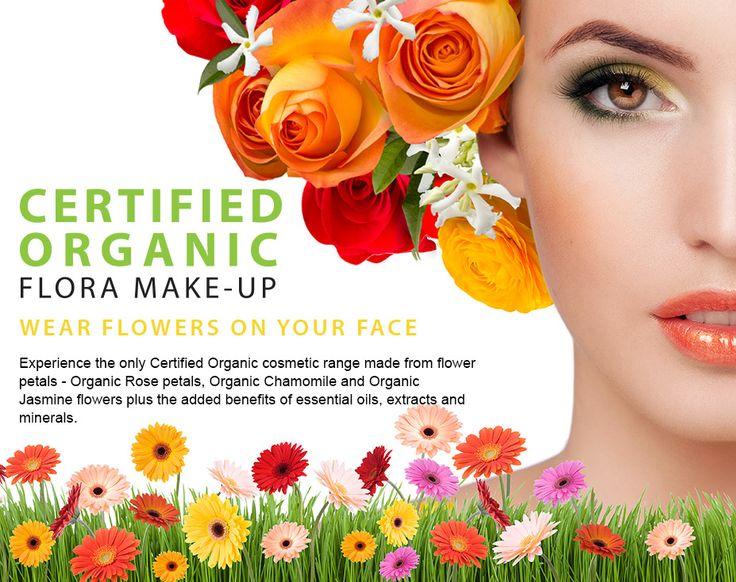 Natural makeup that is full of rose petals.