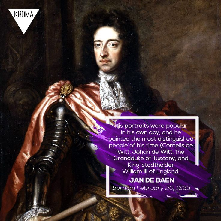 20/2 - Born Today: #JandeBaen was a Dutch portrait painter who lived during the Dutch Golden Age.  #KROMA #Kromamagazine #KROMAborntoday #borntoday #Painting​ #Portraitpainting​