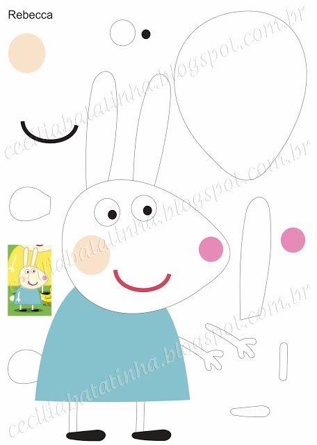 Rebecca - Moldes Peppa Pig e sua turma