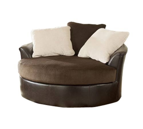 victory chocolate swivel chair its a two person cuddle chair and its