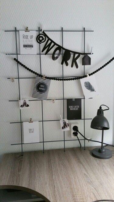 Kaartenrek bureau #handmade #betongaas #spuitverf grijs action #kaarten #vanmariel.nl