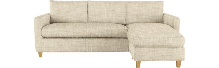 Chester canapé d'angle réversible en tissu tressé (www.habitat.fr)