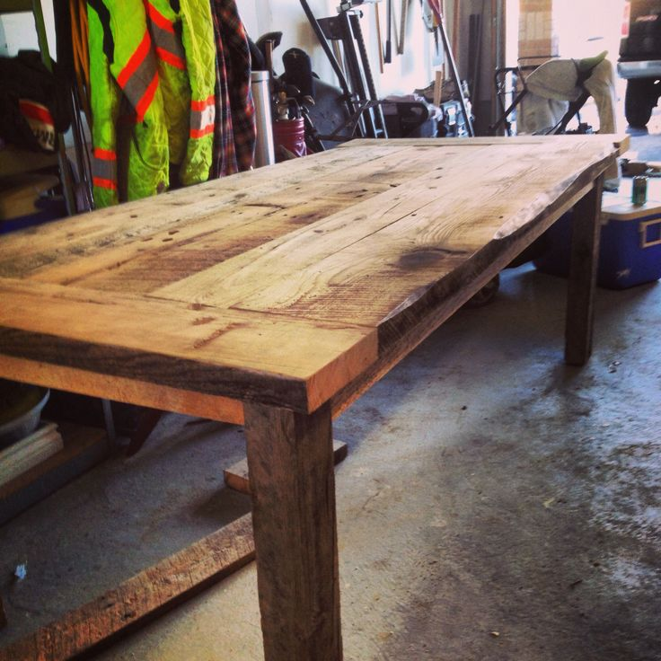 107 Best Barn Board Tables Images On Pinterest | Home, Old Ladder And Stairs