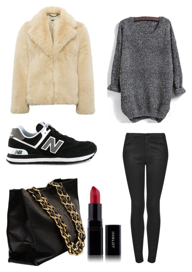 F #3 by dianatairum on Polyvore featuring Whistles, Topshop, New Balance and Chanel