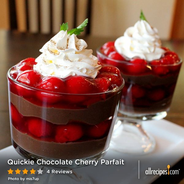 Paleo Quickie Chocolate Cherry Parfait