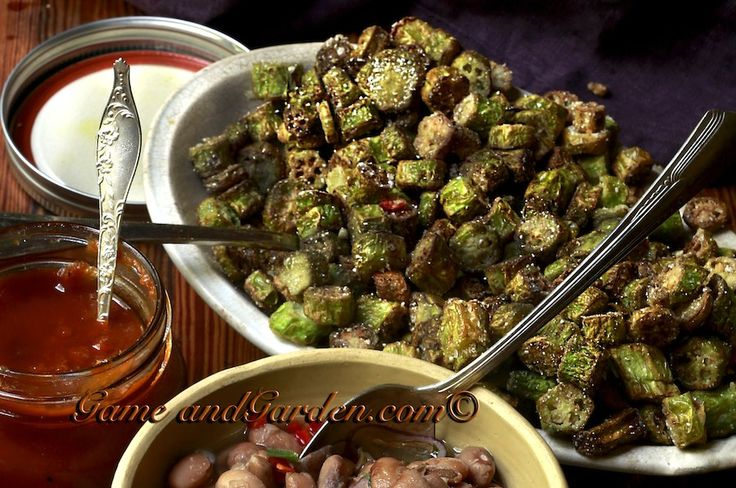 Southern Fried Okra is a staple in the Southern Kitchen. It is high in fiber and folic acid.