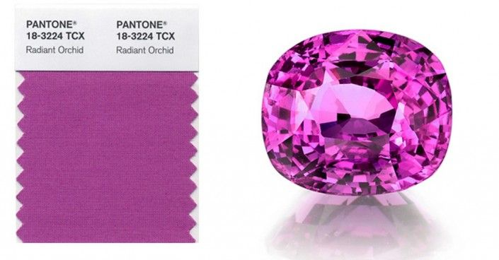 A COLORFUL LIFE: The 2014 Pantone colour of the year is #RadiantOrchid