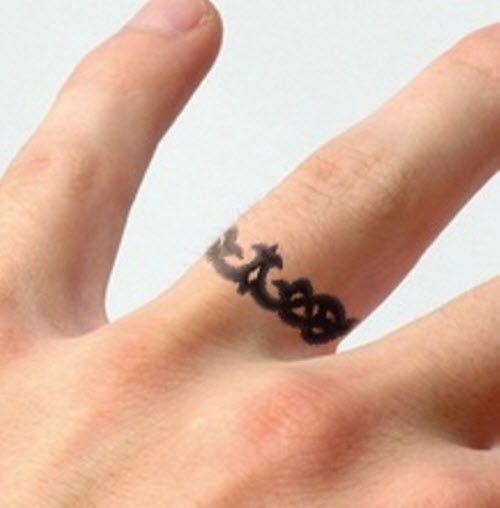 39 best Black Ring Tattoos images on Pinterest | Ink, Ring finger ...
