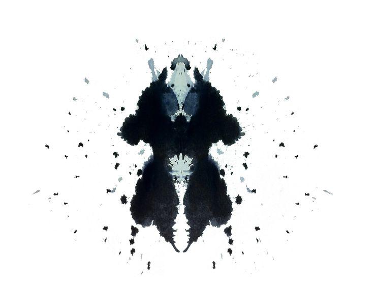 Rorschach testi kartı — Stok Vektör