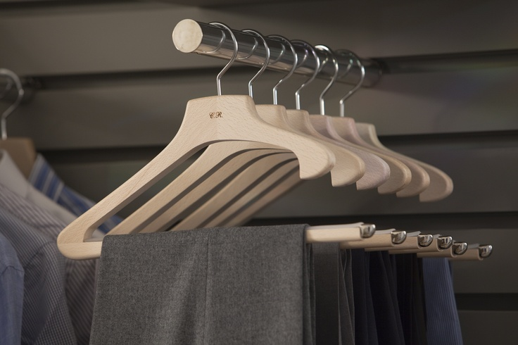 At Toscanini we know how to hang trousers    wooden hangers  www.toscaninisumisura.it