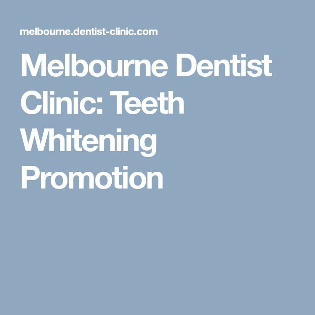 Melbourne Dentist Clinic: Teeth Whitening Promotion
