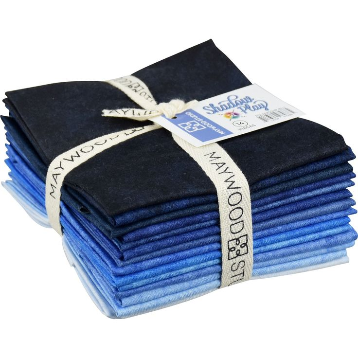Shadow Play Blues Fat Quarter Bundle by Maywood Studio