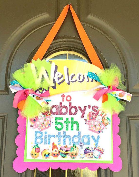 Shopkins Door Sign - Welcome Sign-Birthday Party, Birthday bash, Shopkins Birthday, Party supplies, decorations, bedroom sign