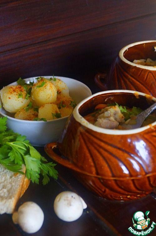 """Мясо в горшочках """"Тепло домашнего очага"""" - кулинарный рецепт"""