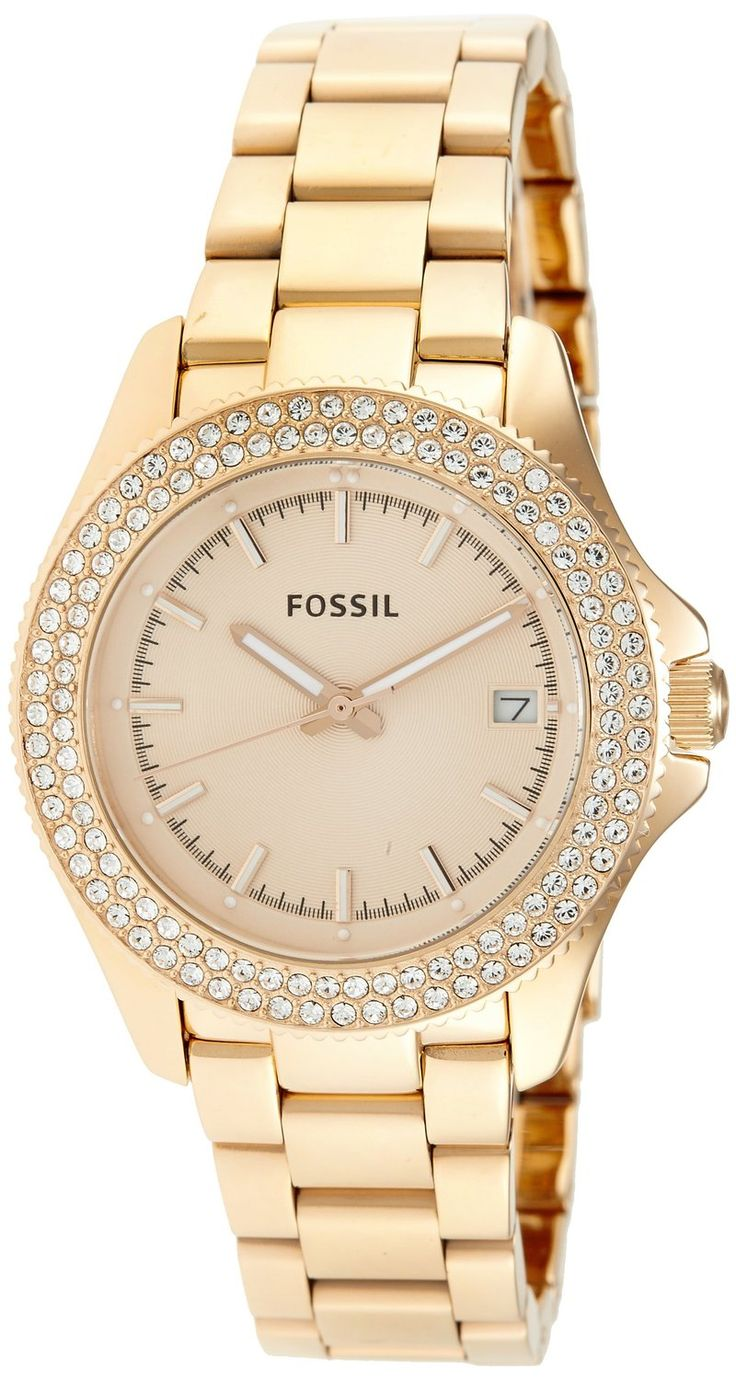 women's watches: Gold watches for women Fossil Retro ...
